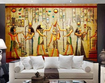 3D Egyptian Mummies Royal Family Wallpaper Mural