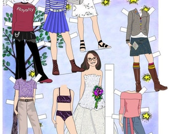 Teen or Tween Girl Personalized Paper Doll