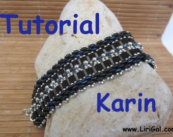 Tutorial Karin SuperDuo and Tila Beadwork Bracelet PDF