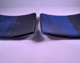 Set of Two Fused Glass Plates