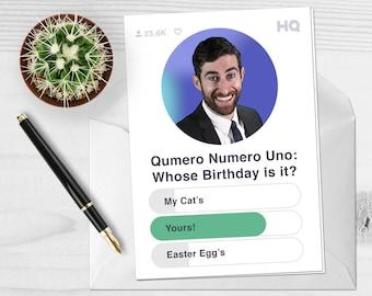 HQ Trivia Birthday - Scott Rogowsky Birthday Card - Personalized Birthday Card - Funny Birthday Card - HQutie - Custom Birthday Card