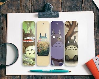 Totoro bookmarks, 4 PCS