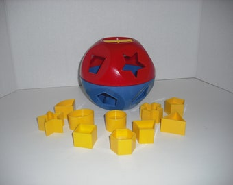 Vintage Tupperware Educational Toy Ball from the 70's