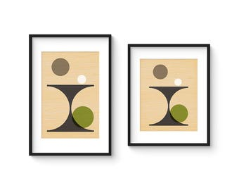PER FORMARE no.4 - Giclee Print - Mid Century Modern Danish Modern Style Minimalist Modernist Eames Abstract