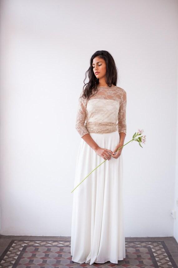 Spitze Brautkleid mit Ärmeln langärmliges Brautkleid Spitze