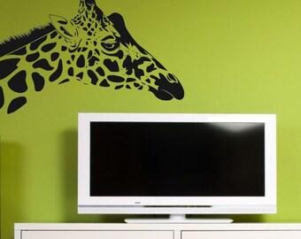 Giraffe Head  Vinyl Wall Decal Art