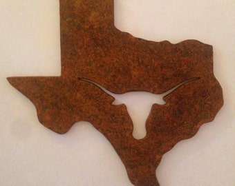 "6"" x 6""-3/16 Texas with longhorn cut out"