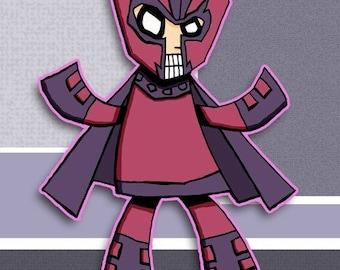 Magneto X-Men Super Hero Art Print