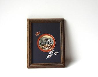 Retro Framed Floral Art