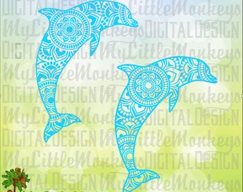 Dolphin SVG ~ Dolphin Mandala ~ Dolphin Shirt ~ Dolphin Mandala SVG ~ Mandala Svg ~ Commercial Use SVG ~ Cut File ~ Clipart eps dxf png