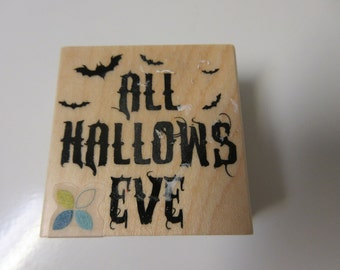 All Hallows Eve Halloween Rubber Stamp-Halloween Stamp