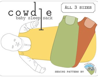 Cowdle Baby Sleep Sack Pattern - all three sizes - Newborn to 12 Months