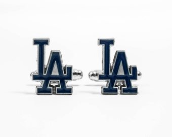 Los Angeles Dodgers Cuff Links -- FREE SHIPPING with USPS First Class Domestic Mail