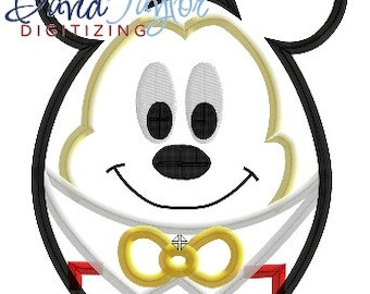 Easter Egg Mickey - 4x4, 5x7 and 6x10 in 7 formats - Applique - Instant Download - David Taylor Digitizing