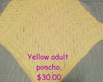 Canary yellow poncho