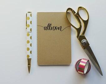 Custom Pocket Journal - Custom Moleskine® Journal - Customized Journal - Custom Notebook - Personalized Journal - Pocket Travelers Insert
