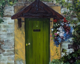 English Country Door fine art paper print 8 x 10