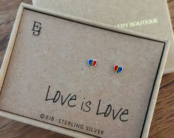 Sterling Silver Pride Studs