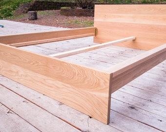 Modern White Oak Bed Frame