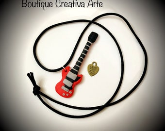 Fimo Electric Guitar Necklace