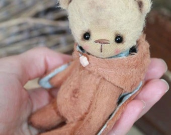 PDF  Sewing pattern for 4,5 Inch Bear with Rabbit hat