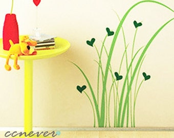 happy love grass 22inch H----Removable Graphic Art wall decals stickers home decor