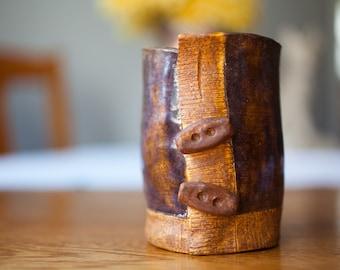 Toggle Button Sweater Mug-handbuilt