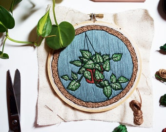 Out of Retirement! - November Philodendron Embroidery Pattern PDF by Sarah K. Benning
