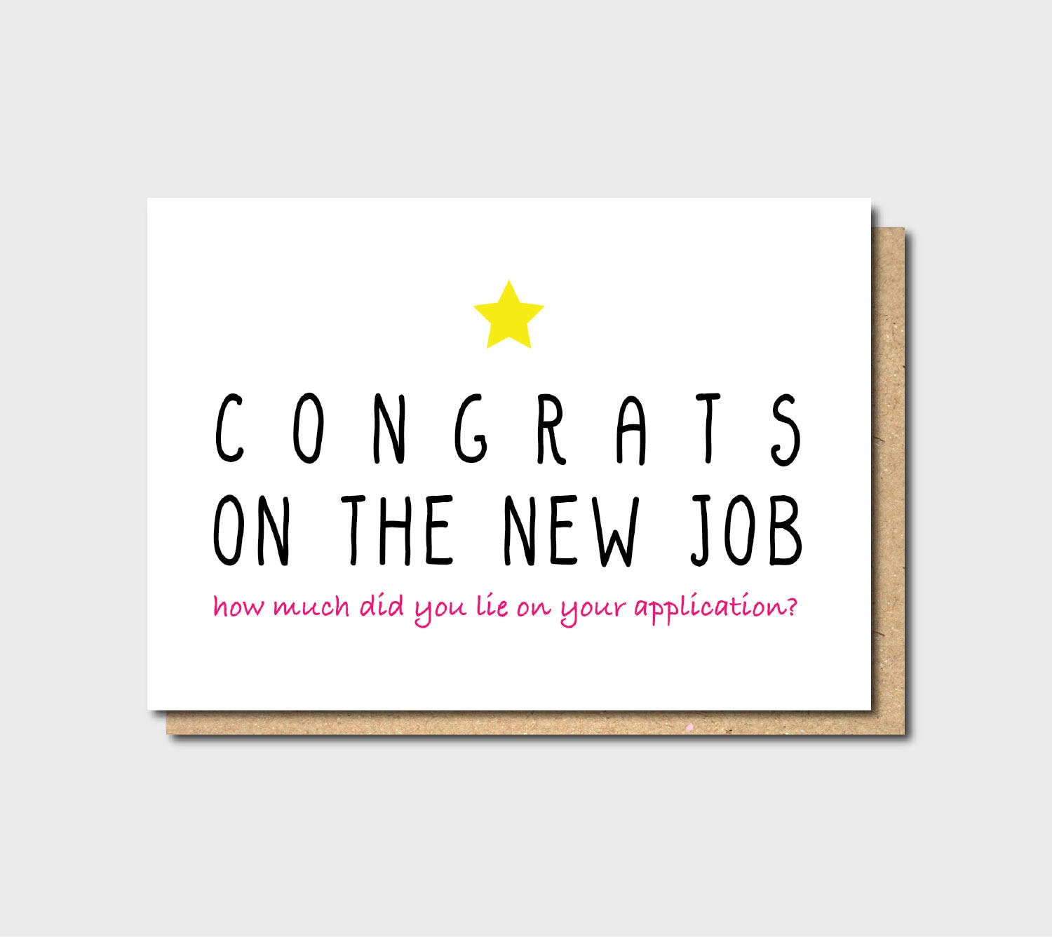Funny new job card Funny Farewell Card Funny Good Luck card