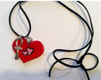 Clay Heart Necklace With Charm