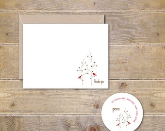 Christmas Thank You Cards, Holiday Thank You Cards, Christmas Thank Yous, Thank You Notes for Christmas