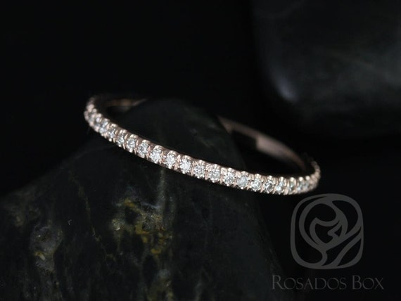 Rosados Box 14kt Rose Gold Matching Band to Jessica Ring Diamonds ALMOST Eternity Band