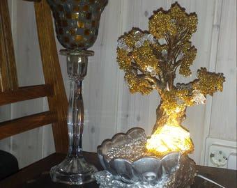 beading tree lamp handmade