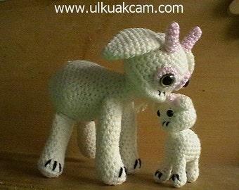 Amigurumi Mum and Baby Goat Pattern