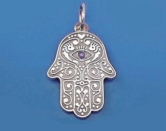 Sterling Silver Hamsa Neclace, Hamsa Jewelry