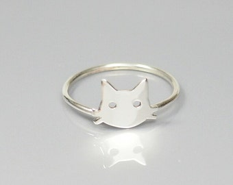 Ring, Cat Face, Cat Face Ring