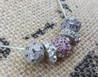 Pink Sparkles Necklace. Jewelry with Bling.