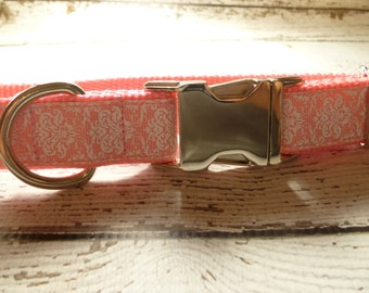 Custom adjustable dog collar with nickle plated buckle, multiple colors