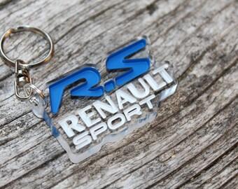Renault RS keychain for clio megane sport automotive accessory birthday present decor