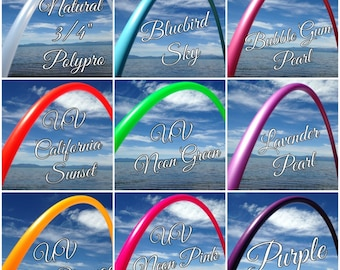 """Mystery Colored 3/4"""" or 5/8"""" PolyPro Hula Hoop! You choose size, we choose the color"""