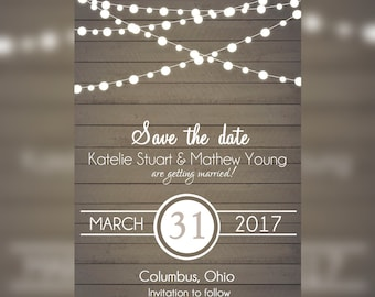 Vintage Wedding, Save the date Rustic Announcements, Barn save the date Announcements, Rustic Bridal shower invitations, Country Wedding