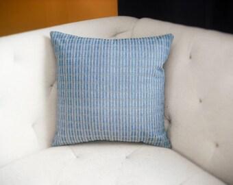 Navy Blue Denim 18x18 Pillow Cover