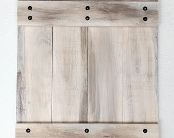 Barn Door Frame - Rustic White with Antique Studding