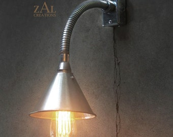 Wall Light. Sconce. Flexible Funnel Light. Industrial style.