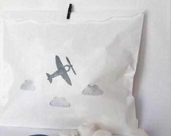 Plane Party Bags - Aeroplane party bags, plane favour bags, plane party bags, aeroplane favour bags, airplane party, plane favors x 10
