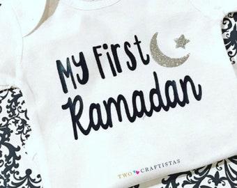 My First Ramadan baby bodysuit, ramadan onesie baby outfit, muslim baby, islamic holiday, eid gift, ramadan gift, gerber ramadan onesie