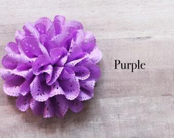 Eyelet Flower in Purple