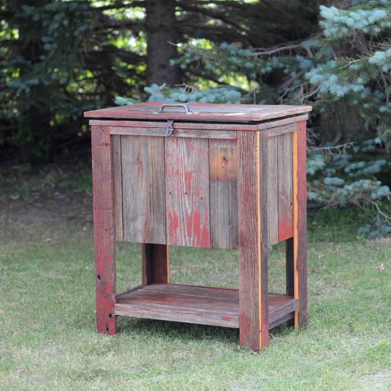 Outdoor Cooler Barn Wood Reclaimed Barn Tin Metal Cooler Tank