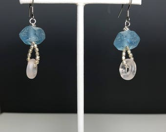 Bohemian and Recycled Glass Earrings