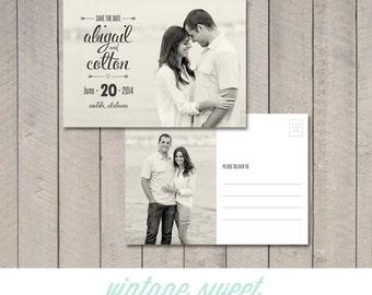 Save the Date Postcard / Magnet (Printable) by Vintage Sweet
